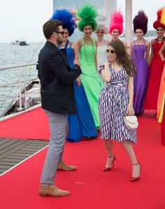 'Trolls' Photocall Anna Kendrick joined the dancing fun as well.