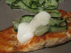 Salmon with Cucumber Salad