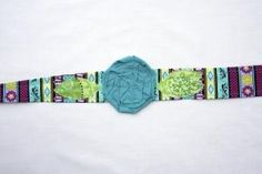 """""""Tickle Me Turquoise"""" Fabric Headband $10.00 Buy and Sell Crafts On Line   Handmade Crafts to Sell? Free Posting"""