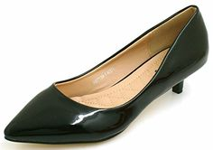 Womens Ladies Faux Patent Leather Low Kitten Heel Pointed Toe Work Office Dressy Pumps Shoes - B30 (7, BLACK FAUX PATENT) SHU CRAZY http://www.amazon.co.uk/dp/B00LUXIN5A/ref=cm_sw_r_pi_dp_RWL5tb1V43T12