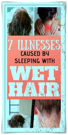 Many of us have the habit of going to bed with wet hair. However, you should know that this is a huge mistake. In fact, sleeping with wet or even damp hair can be the cause of many health problems. This does not, however, mean that you will catch a cold or pneumonia bit there are some other health issues that might arise. Weight Training Workouts, Easy Workouts, Healthy Detox, Healthy Skin, Sleeping With Wet Hair, Easy Contouring, Breaking Hair, Yoga Anatomy, Skin Care Routine Steps