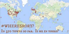 #wheresrory?  Photobombing 350 cats, volcanoes, landmarks and cities in a month.  Make your own Rory and invite him to yours.  http://thebloggess.com/2015/08/wheres-rory/