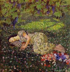 """Felice Casorati, """"Il sogno del Melograno"""", 1912."""