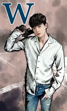 Comic book collections and dreamlike kisses in W–Two Worlds Kdrama W, Kdrama Actors, Lee Jong Suk Cute, Lee Jung Suk, W Two Worlds Art, W Two Worlds Wallpaper, Ji Chang Wook Abs, W Korean Drama, Ver Drama