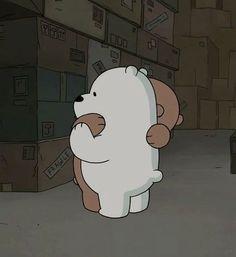 Imagem de bear, we bare bears, and hug Ice Bear We Bare Bears, We Bear, Cartoon Profile Pictures, Cartoon Pics, Bear Wallpaper, Disney Wallpaper, Cartoon Network, Bebe Video, Bear Meme