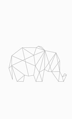 Ideas origami elephant decoration for 2019 Geometric Elephant, Origami Elephant, Geometric Drawing, Geometric Shapes, Elephant Sketch, Graph Paper Art, Watercolor Projects, String Art, Iphone Wallpaper
