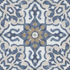 Bedrosians Villa Azul Blue x Porcelain Deco Floor and Wall Tile (Common: x Actual: x at Lowe's. Bring the timelessness of old world design into your home with the Villa Azul collection. Lends itself beautifully ito a variety of design aesthetics, Decorative Tile, Morrocan Tile, Minimalist Bathroom, Bathroom Floor Tiles, Flooring, Blue Tiles, Porcelain Flooring, Tile Bathroom, Porcelain Tile