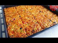 πρακτικό κουλούρι με γεύση πίτσας χωρίς ζύμωμα - YouTube Kneading Dough, Pizza, Baking, Rezepte