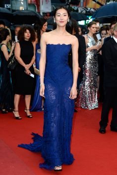 CANNES, FRANCE - MAY 22: Liu Wen attends the 'All Is Lost' Premiere during the 66th Annual Cannes Film Festival at Palais des Festivals on May 22, 2013 in Cannes, France.