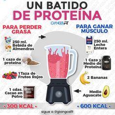 8 Ideas De Batidos De Proteinas Batidos Para Masa Muscular Batido Proteinas Casero Alimentos Aumentar Masa Muscular