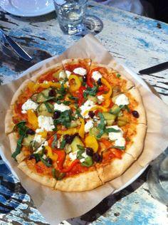 Pizza at La Bicyclette in Carmel