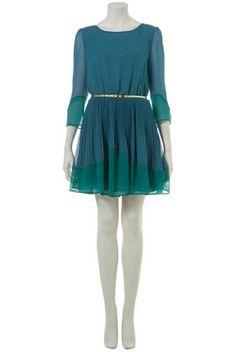 teal dress. topshop.