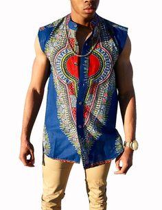 2016 Africa Clothing Personal Customized Men Printed Shirt Fashion Traditional African Wax Tops WYN181 #Dashiki #Fashion #Negros