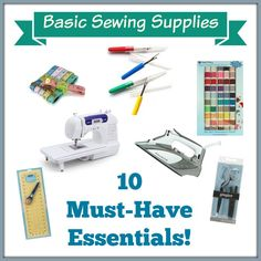 10 must have essential sewing tools - these are the basics you'll need!