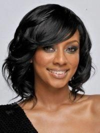 Asian Hairstyles | Short Haircuts For Black Women With Color | Short Black Hairs  #asian #Bl Black Hairstyles Medium Length, Black Prom Hairstyles, Braids For Medium Length Hair, New Short Hairstyles, Medium Short Hair, Short Hair With Bangs, African Hairstyles, Hairstyles With Bangs, Short Hair Cuts