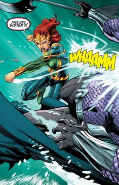 "Comics and nothin' but — Mera: Queen of Atlantis - ""Blood Lore"". Hawkgirl, Batwoman, Nightwing, Mera Dc Comics, Marvel Dc, Marvel Comics, Ocean Master, Superhero Villains, Black Canary"