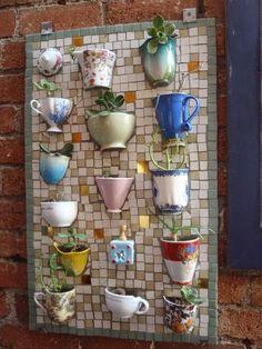 DIY Teacup Mosaic Planter