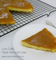 Low Carb Triple Almond Cake - sugar free, gluten free, and keto recipe