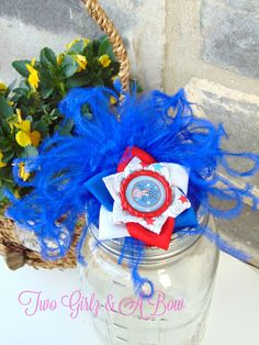 Red White and Blue Memorial Day Independence Day Fireworks Feathers and Flower Hair Clip by TwoGirlzandABow Find this and other great pieces in our Etsy shop!