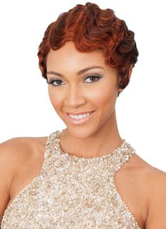 http://www.shorthaircutsforblackwomen.com/bentonite-clay-for-hair/ African American Short Hairstyles | Short finger wave hairstyles for African American women with brown ...