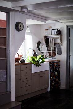 Hide kitchen appliances with fabric panels | #IKEAIDEAS #kitchen