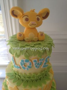Simba Baby Shower Cake- www.facebook.com/sugarcuppies