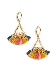 SHASHI Lilu Harvest 18K Gold-Plated Vermeil Sterling Silver Earrings. #shashi #