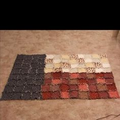my second quilt--Texas flag rag