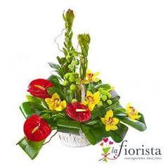 Vendita Centrotavola con Anthurium e Fiori di Orchidea ... #Adornosflorales