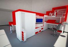 Mueble divisor de ambiente on Behance