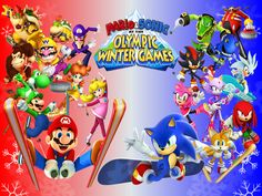 mario and sonic at the olympic games winter - Google Search