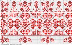 Magyar Népművészet VII. Székely hímzések Rúdravaló, kékkel és pirossal hímezve. Csíkszentgyörgy és Csíkszentsimon (79.940) Megjegyzés: Mivel a mintaív csak piros színű független a minta színétől, így nem tudom melyik rész lenne kék.. Cross Stitch Borders, Cross Stitch Samplers, Cross Stitch Embroidery, Cross Stitch Patterns, Palestinian Embroidery, Red Pattern, Filet Crochet, Beading Patterns, Pixel Art