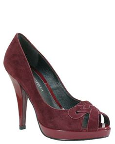 Roberto Botella Lattice Peeptoe 6795 Soft burgundy suede, with matching patent platform and heel. There is chic lattice detailing at the toe of the shoe and the peep-toe design makes this stylish platform a must have for all fashionistas http://www.comparestoreprices.co.uk/womens-shoes/roberto-botella-lattice-peeptoe-6795.asp
