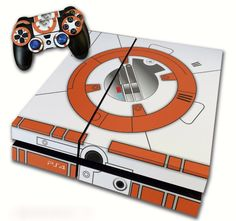 PS4 Skin EXCLUSIVE Star Wars The Force Awakens BB-8 with 2 Controller Skins Playstation 4