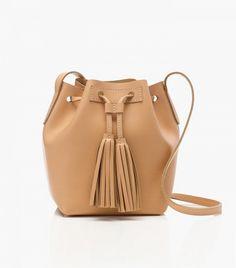 J.Crew Mini Bucket Bag in Leather