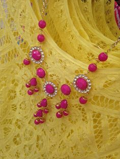 Lilly Pulitzer Fall '13- Darling Necklace in Mambo Pink