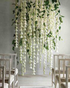 Wedding Ceremony Ideas Altars Hanging Flowers For 2019 Flower Wall Wedding, Wedding Wall, Floral Wedding, Trendy Wedding, Wedding Arches, Wedding Church, Church Ceremony, Ceremony Arch, Wedding Tables