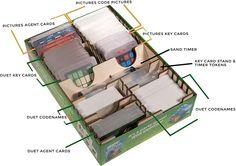 The Broken Token: Codenames Organizer: Amazon.de: Spielzeug Organizer, Laser Cutting, Organization, Amazon, Getting Organized, Organisation, Amazons, Riding Habit, Tejidos