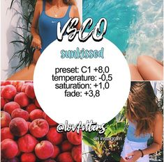 sunkissed 🌞 works best w reds, blues & skin tones —— [🌿] made by emma ( [☁️] give creds if you use [💞] feel free to dm us… Photography Filters, Photography Editing, Best Vsco Filters, Vsco Filters Summer, Vsco Effects, Vsco Themes, Photo Editing Vsco, Vsco Pictures, Vsco Presets