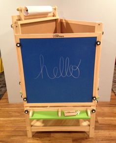 Three Adjustable-Height Sides: Chalk Board, Felt Board and Dry Erase Board with Paper Holder