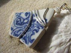 Sea Glass Jewelry Blue China