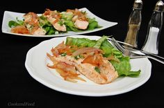 Salmon Fillets With Caramelized Onions