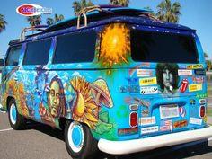 The coolest vw hippie bus in the world - classic cars - san diego, ca volks Volkswagen Transporter, T3 Vw, Volkswagen Bus, Volkswagen Beetles, Kombi Hippie, Hippie Car, Hippie Style, Kombi Food Truck, Vans Vw