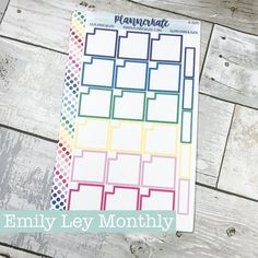 S-590 || Emily Ley Daily Planner - Monthly Cutout Full Box (Removable Matte)
