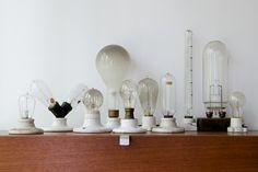 Antique Edison lightbulb collection,