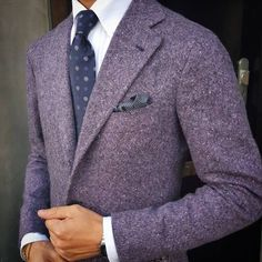 Cashmere donegal jacket by @orazio_luciano. #suitup #dressup #fashionblog…