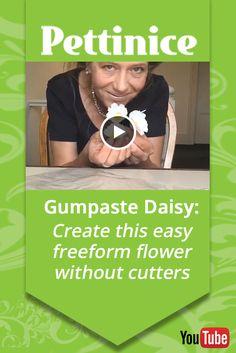 Freeform gumpaste Daisy tutorial with Lisa Templeton