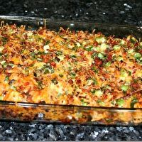 Loaded baked potato and chicken casserole ... A casserole with no cream o chemical soup? Is there such a thing?
