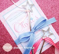 This pink vintage Cinderella themed birthday invitation is adorable! {Photo by IDEA! Event + Style} #princess