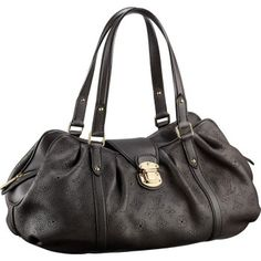 louis vuitton Lunar GM Shoulder Bags And Totes Chocolate Mahina Leather M95969 $249.99